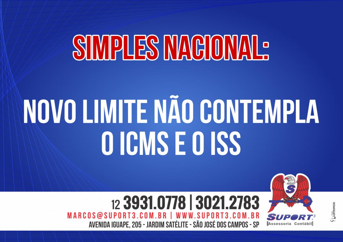 Simples Nacional: novo limite não contempla o ICMS e o ISS